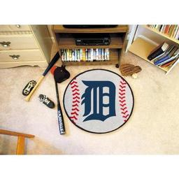 "Click here to learn more about the Detroit Tigers Baseball Mat 27"" diameter."