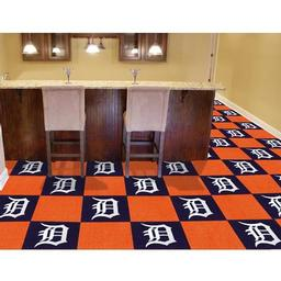 "Click here to learn more about the Detroit Tigers Carpet Tiles 18""x18"" tiles."