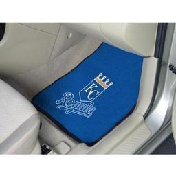 "Click here to learn more about the Kansas City Royals 2-piece Carpeted Car Mats 17""x27""."