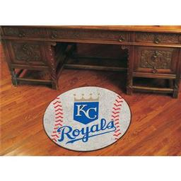 "Click here to learn more about the Kansas City Royals Baseball Mat 27"" diameter."