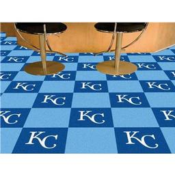 "Click here to learn more about the Kansas City Royals Carpet Tiles 18""x18"" tiles."