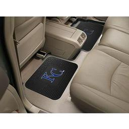 "Click here to learn more about the Kansas City Royals Backseat Utility Mats 2 Pack 14""x17""."