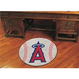 "Click here to learn more about the Los Angeles Angels Baseball Mat 27"" diameter."
