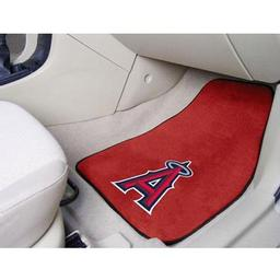 "Click here to learn more about the Los Angeles Angels 2-piece Carpeted Car Mats 17""x27""."
