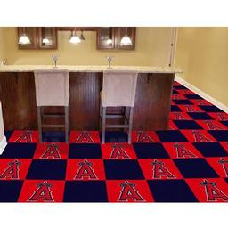 "Click here to learn more about the Los Angeles Angels Carpet Tiles 18""x18"" tiles."