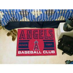 "Click here to learn more about the geles Angels Baseball Club Starter Rug 19""x30""."