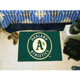 "Click here to learn more about the Oakland Athletics Starter Rug 20""x30""."
