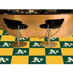 "Click here to learn more about the Oakland Athletics Carpet Tiles 18""x18"" tiles."
