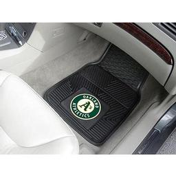 "Click here to learn more about the Oakland Athletics Heavy Duty 2-Piece Vinyl Car Mats 17""x27""."