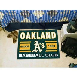 "Click here to learn more about the d Athletics Baseball Club Starter Rug 19""x30""."