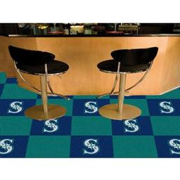 "Click here to learn more about the Seattle Mariners Carpet Tiles 18""x18"" tiles."