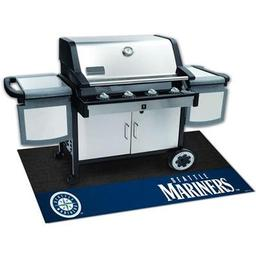 "Click here to learn more about the Seattle Mariners Grill Mat 26""x42""."