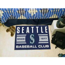 "Click here to learn more about the e Mariners Baseball Club Starter Rug 19""x30""."
