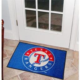 "Click here to learn more about the Texas Rangers Starter Rug 20""x30""."