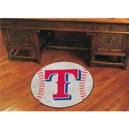 "Click here to learn more about the Texas Rangers Baseball Mat 27"" diameter."