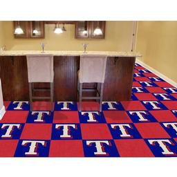 "Click here to learn more about the Texas Rangers Carpet Tiles 18""x18"" tiles."