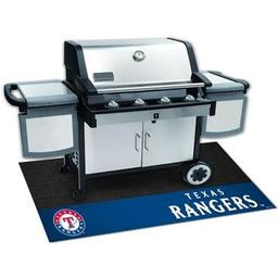 "Click here to learn more about the Texas Rangers Grill Mat 26""x42""."