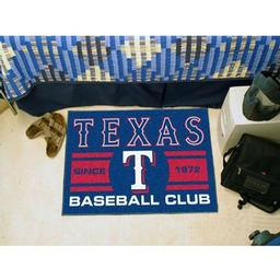 "Click here to learn more about the Rangers Baseball Club Starter Rug 19""x30""."
