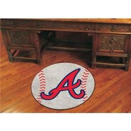 "Click here to learn more about the Atlanta Braves Baseball Mat 27"" diameter."