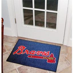 "Click here to learn more about the Atlanta Braves Starter Rug 20""x30""."
