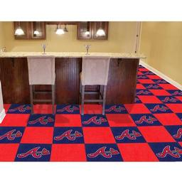 "Click here to learn more about the Atlanta Braves Carpet Tiles 18""x18"" tiles."