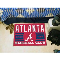"Click here to learn more about the a Braves Baseball Club Starter Rug 19""x30""."