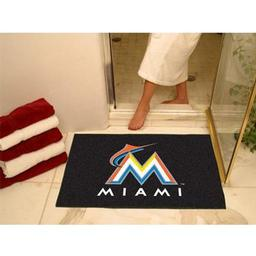 "Click here to learn more about the Miami Marlins All-Star Mat 33.75""x42.5""."