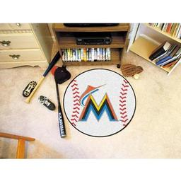 "Click here to learn more about the Miami Marlins Baseball Mat 27"" diameter."