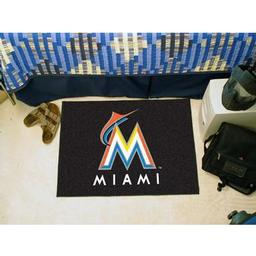 "Click here to learn more about the Miami Marlins Starter Rug 20""x30""."
