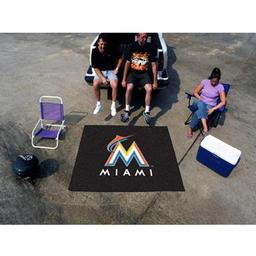 Click here to learn more about the Miami Marlins Tailgater Rug 5''x6''.