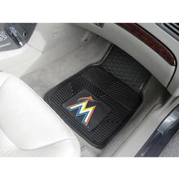 "Click here to learn more about the Miami Marlins Heavy Duty 2-Piece Vinyl Car Mats 17""x27""."