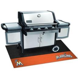 "Click here to learn more about the Miami Marlins Grill Mat 26""x42""."