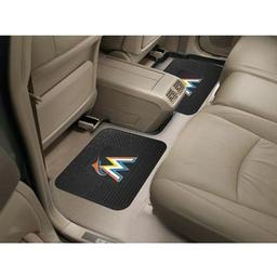 "Click here to learn more about the Miami Marlins Backseat Utility Mats 2 Pack 14""x17""."