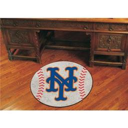 "Click here to learn more about the New York Mets Baseball Mat 27"" diameter."
