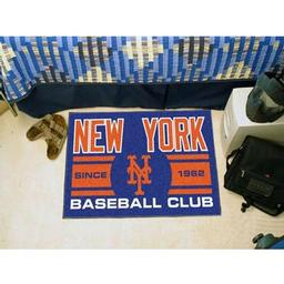 "Click here to learn more about the rk Mets Baseball Club Starter Rug 19""x30""."