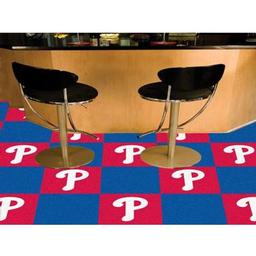 "Click here to learn more about the Philadelphia Phillies Carpet Tiles 18""x18"" tiles."