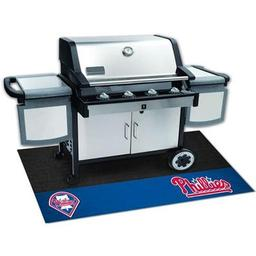 "Click here to learn more about the Philadelphia Phillies Grill Mat 26""x42""."