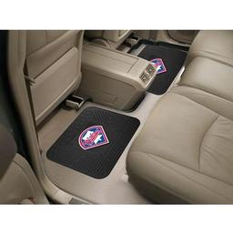 "Click here to learn more about the Philadelphia Phillies Backseat Utility Mats 2 Pack 14""x17""."