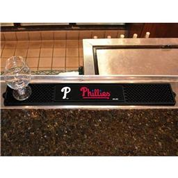 "Click here to learn more about the Philadelphia Phillies Drink Mat 3.25""x24""."