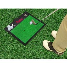 "Click here to learn more about the Philadelphia Phillies Golf Hitting Mat 20"" x 17""."