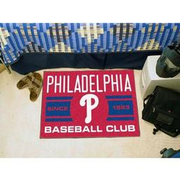 "Click here to learn more about the elphia Phillies Baseball Club Starter Rug 19""x30""."