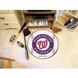 "Click here to learn more about the Washington Nationals Baseball Mat 27"" diameter."