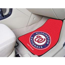 "Click here to learn more about the Washington Nationals 2-piece Carpeted Car Mats 17""x27""."