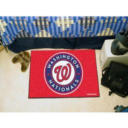 "Click here to learn more about the Washington Nationals Starter Rug 20""x30""."