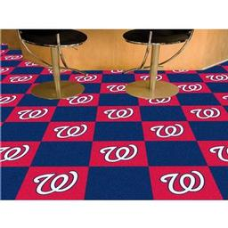 "Click here to learn more about the Washington Nationals Carpet Tiles 18""x18"" tiles."