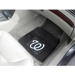 "Click here to learn more about the Washington Nationals Heavy Duty 2-Piece Vinyl Car Mats 17""x27""."
