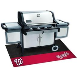 "Click here to learn more about the Washington Nationals Grill Mat 26""x42""."