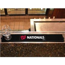 "Click here to learn more about the Washington Nationals Drink Mat 3.25""x24""."