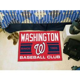 "Click here to learn more about the gton Nationals Baseball Club Starter Rug 19""x30""."