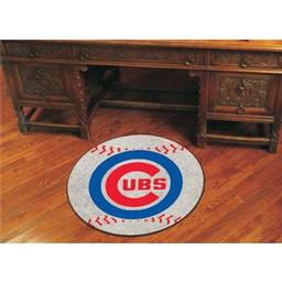 "Click here to learn more about the Chicago Cubs Baseball Mat 27"" diameter."
